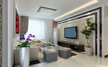 2021现代简约120平米装修效果图片 2021现代简约三居室装修设计图片