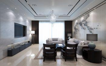 邕江郡现代中式180平米三房两厅大户型装修效果图