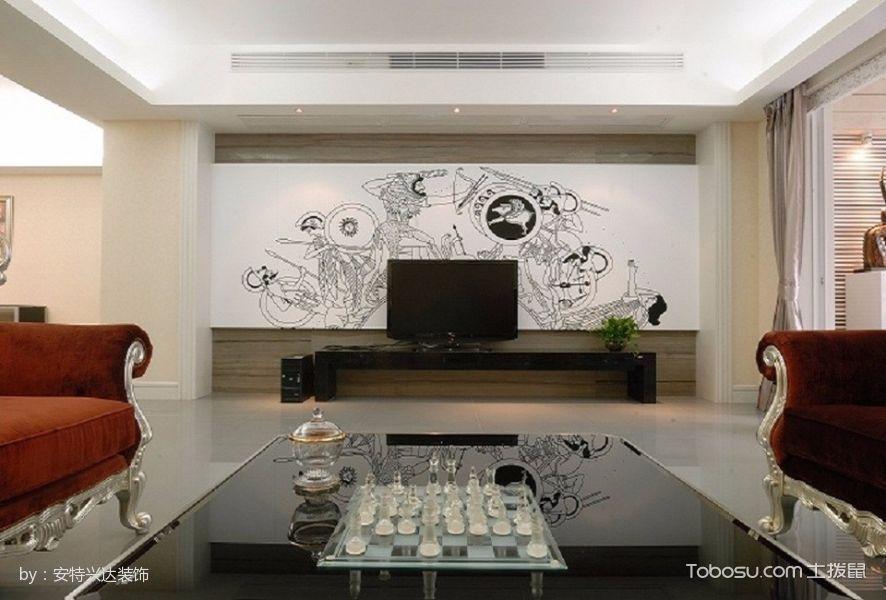 泰来嘉园120平米混搭风格三房2厅装修效果图