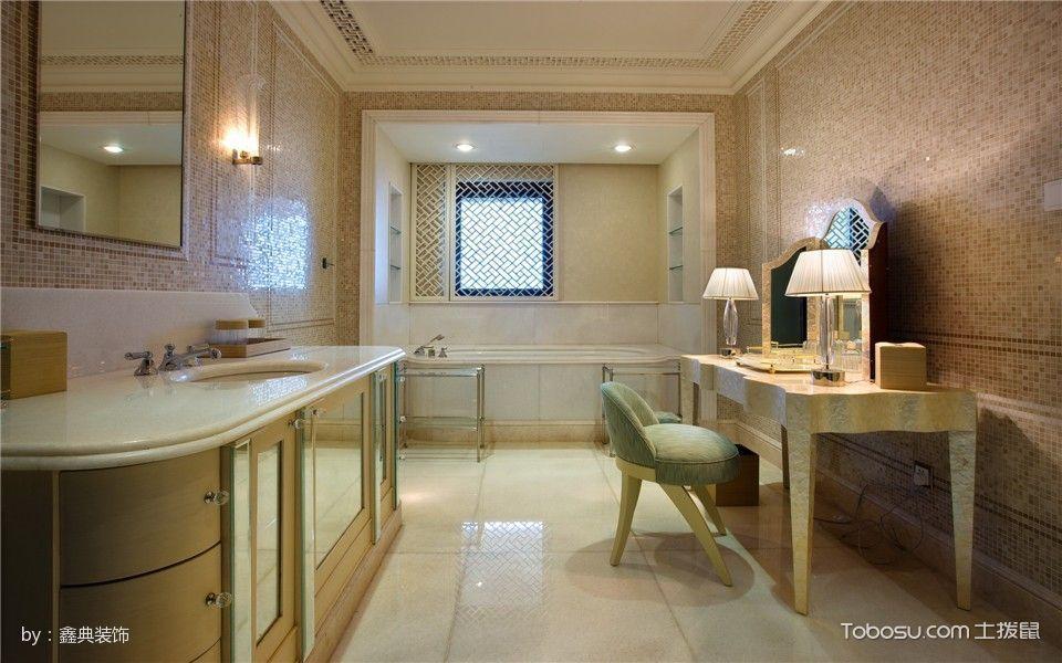 卫生间白色地砖欧式风格装饰图片