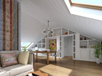 康隆园150平米混搭阁楼三房二厅装修效果图