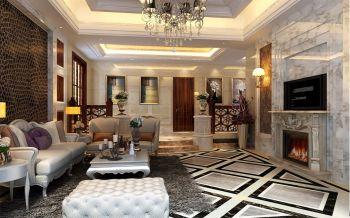 碧桂园大400平方欧式风格家居跃层装修效果图