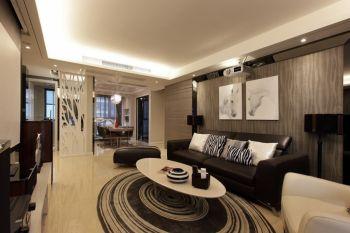 现代简约时尚120平米三房二厅装修效果图