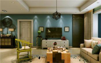 6万预算混搭风格三室两厅装修效果图