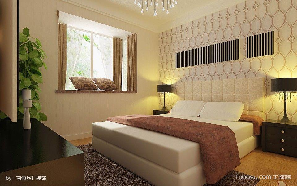 卧室白色床田园风格装饰设计图片