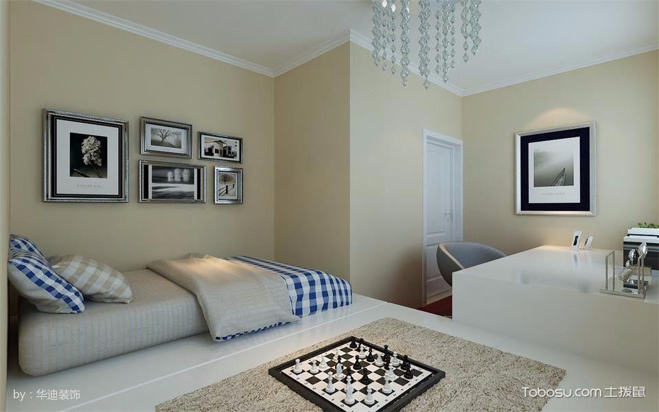 卧室白色榻榻米简欧风格装修效果图