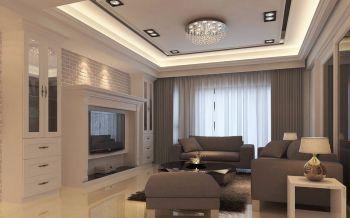 100平现代混搭风格样板3房2厅装修效果图