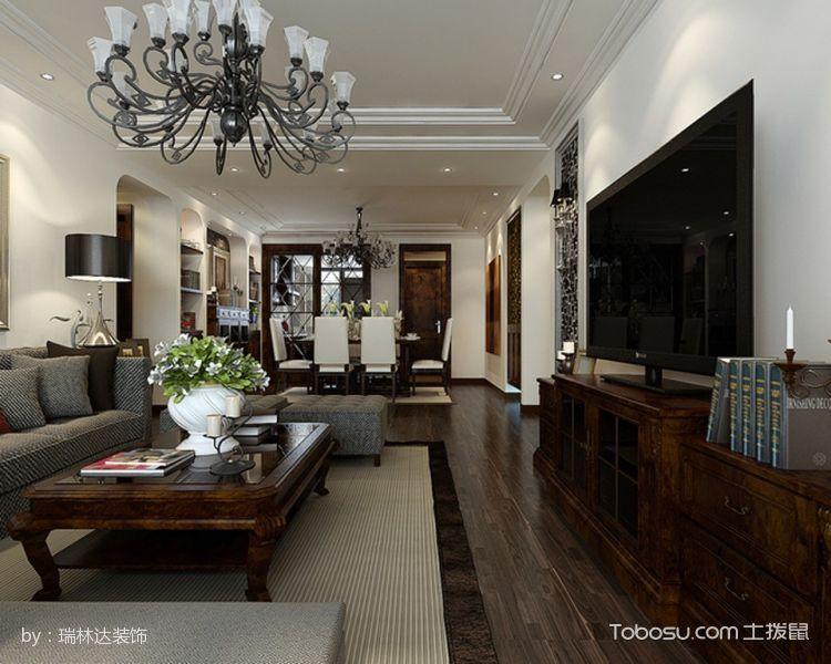 客厅吊顶简欧风格装潢图片图片