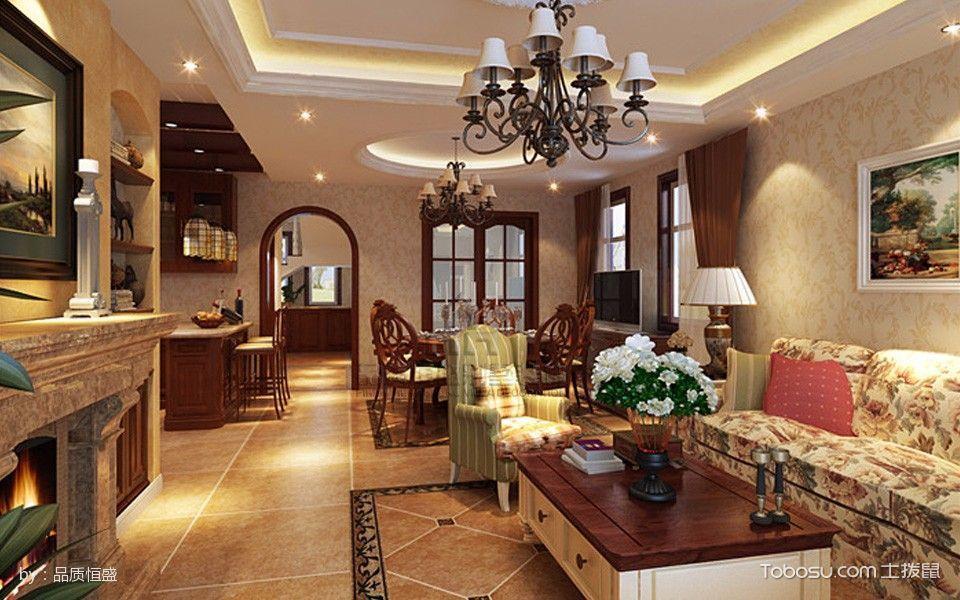 180平米孔雀城美式风格别墅装修效果图
