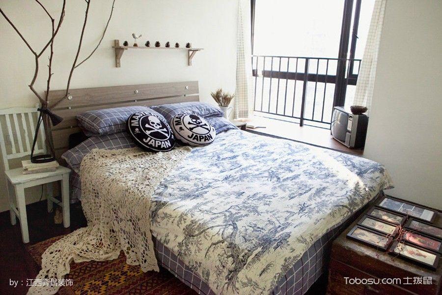 卧室紫色床北欧风格装修效果图