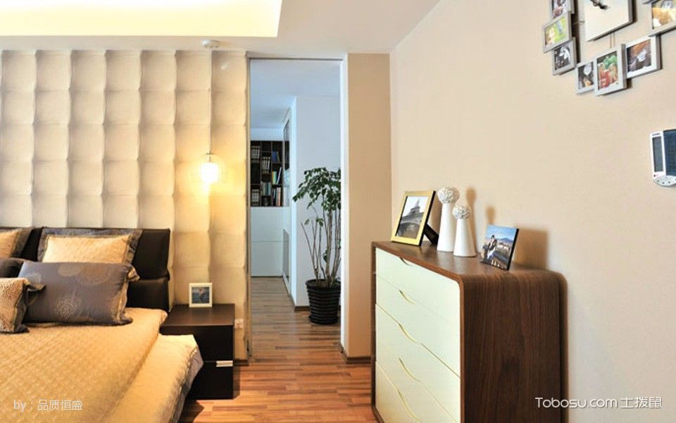卧室咖啡色走廊现代简约风格效果图