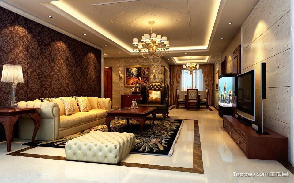 百子湾122平现代欧式风格三房两厅装修效果图