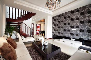 135平复式别墅现代风格装修效果图