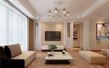 滨湖翰林苑100平现代简约风格三房两厅装修效果图
