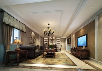 华润国际145平现代欧式风格套房装修效果图