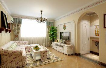 星雨华府90平清新田园风格两房一厅装修设计效果图
