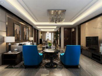 白桦林间120平混搭风格大平层别墅装修效果图