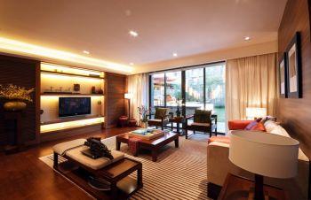 双港新家园120平现代中式风格三房装修效果图