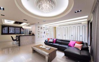 120平三房户型现代风格装修实景图