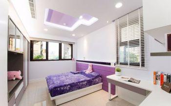 三居室户型现代风格装修实景图
