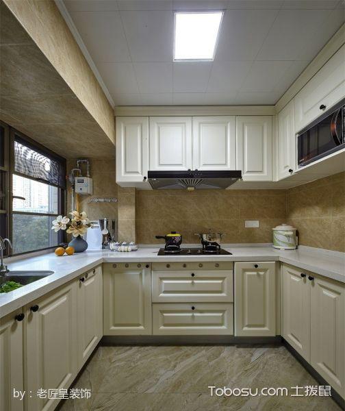 厨房米色吊顶混搭风格效果图