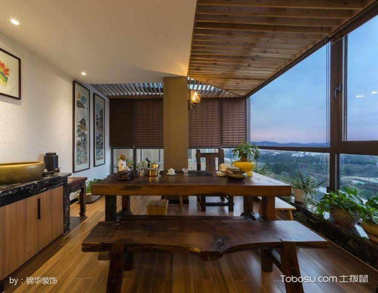 2020现代中式阳台装修效果图大全 2020现代中式设计图片