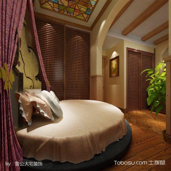 卧室黄色床田园风格效果图