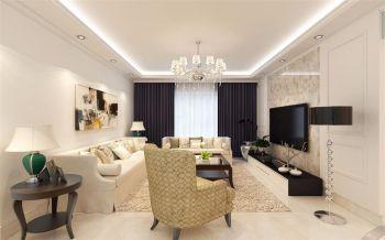 凯旋门100平米现代美式风格三房两厅装修效果图