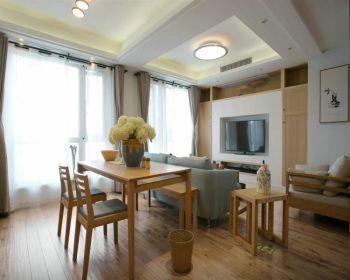 金地国际城120平现代田园风格套房装修效果图
