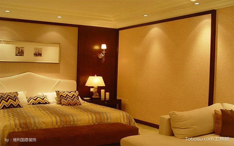 卧室黄色灯具现代风格装潢图片
