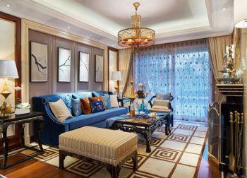 仙龙湾新110平中式混搭风格三房两厅装修效果图