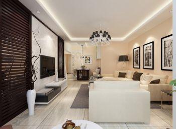 玉带园100平两房一厅现代简约装修效果图