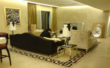 华润中央公园100平现代风古典三房两厅装修效果图