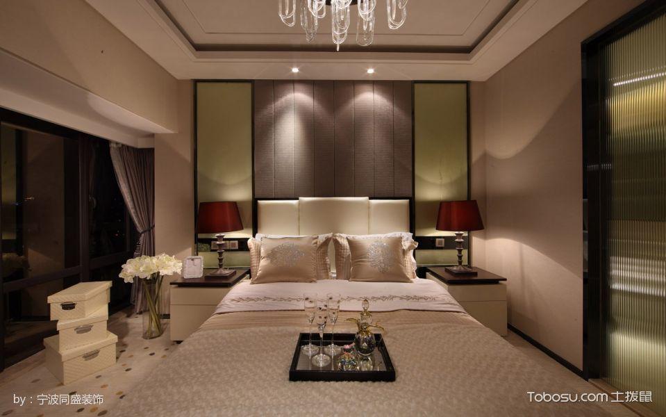 卧室白色灯具现代风格装饰效果图