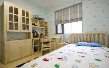 儿童房彩色床现代简约风格装修效果图