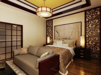 卧室灰色沙发中式风格装饰设计图片