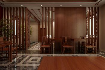 客厅彩色走廊中式风格装潢设计图片