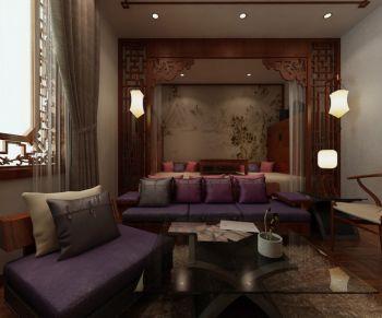 120平中式四合院别墅室内装修效果图