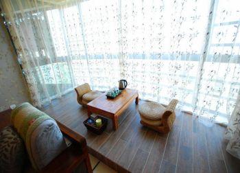 华菁水苑 80平都市简中风格两居室装修效果图