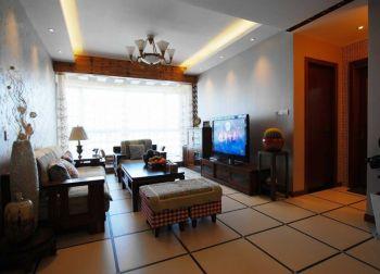 客厅白色背景墙简中风格装饰效果图
