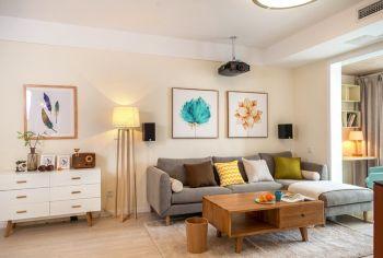100平米简约风格三居室样板房设计三室装修效果图