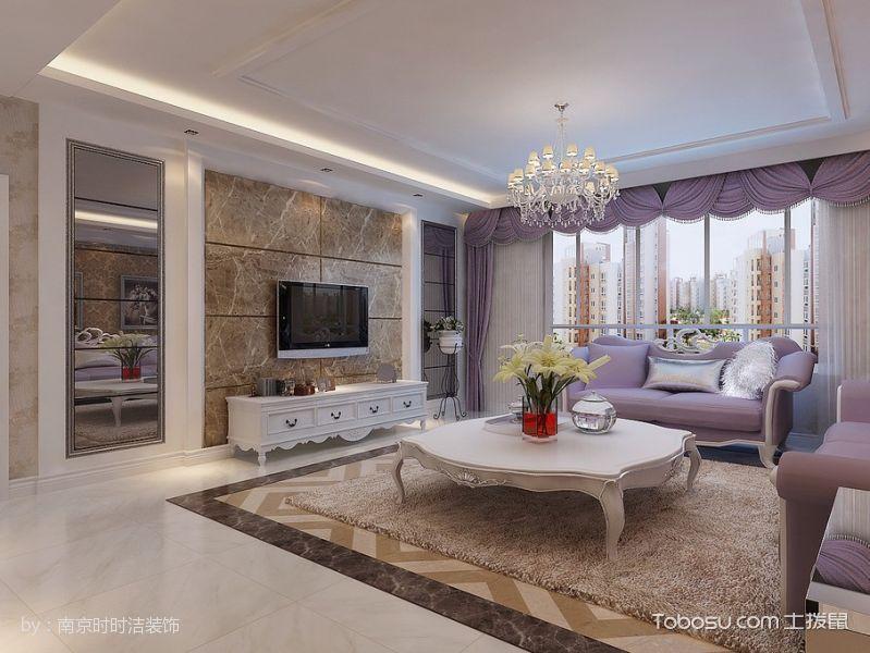 120平米简欧风格浪漫新房四居室装修效果图