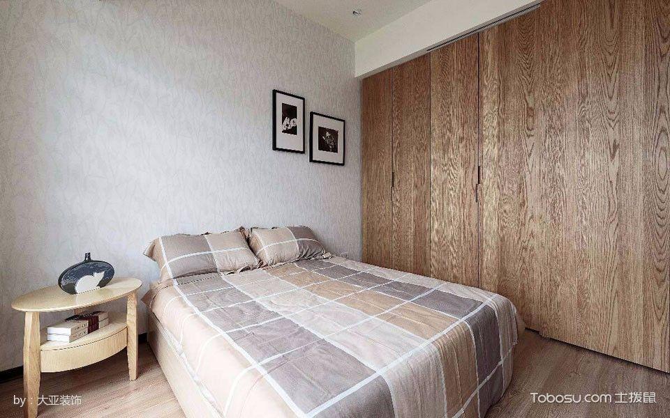 卧室白色床现代中式风格装潢设计图片