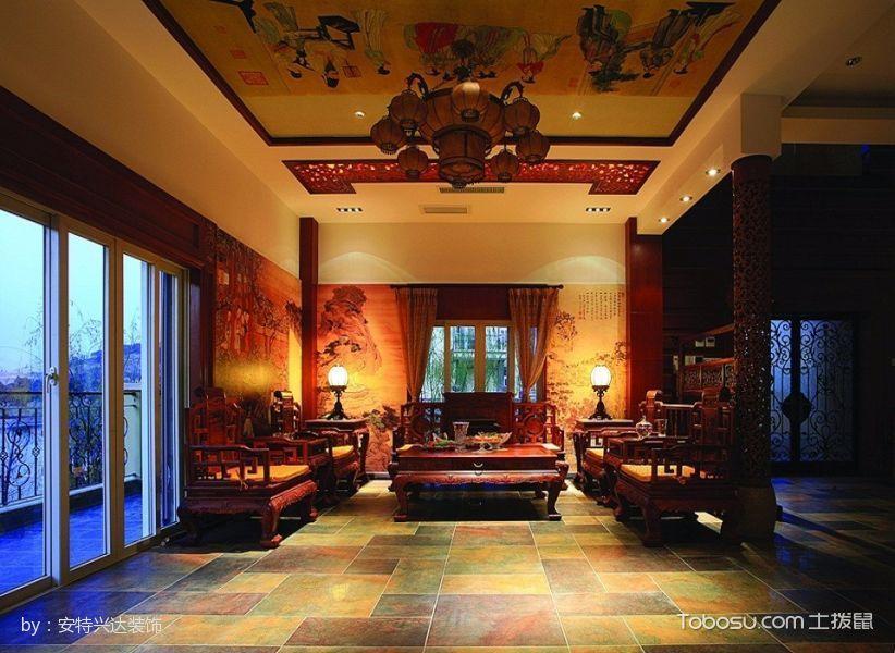 亿城堂庭混搭暖色四居室装修设计图片