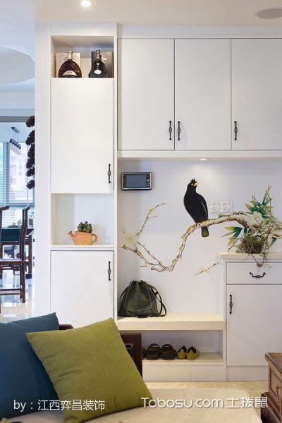 客厅 博古架_墨香画苑120平米简中式套房装修效果图