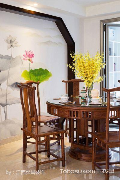 餐厅咖啡色餐桌简中风格装潢图片