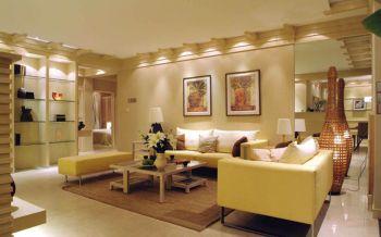 富力津门湖现代风格混搭简单木质三居室装修效果图