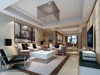 碧桂园120平米现代简约风格127平三居室装修效果图