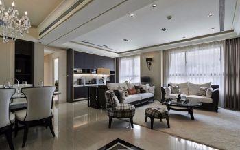 100平米混搭简欧式风格米色套房装修效果图