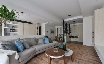 100平米简约式混搭家居套房彩色装修效果图